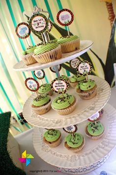 Customized Party Cupcake Toppers Jungle Safari Theme x 24 pcs by ParteeBoo, $11.99