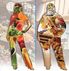 motivation via VISUAL!! WHAT does WHAT we eat LOOK LIKE???? #fitness #health #foods