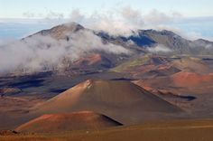 Haleakala National Park was a great trip on the island of Maui. At more than 10,000 ft.