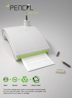 A printer that uses pencil to print your documents…