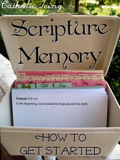 A Scripture Memory system for Catholic to get started. Stop wishing you knew more Scripture and just do it! :-) memori system, scriptur memori