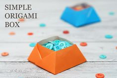 SAS does ...: SIMPLE ORIGAMI BOX