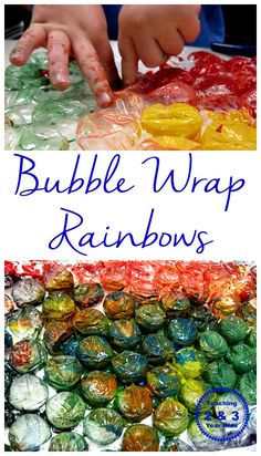 Painting with Bubble Wrap