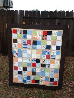 Baby Clothes Quilt - to do someday