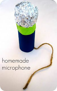 The 3 Minute Microphone for Toddlers made from Toilet Paper Tube! #Kids