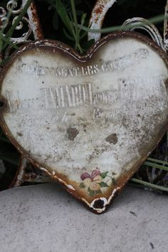 French Zinc heart cica 1800's