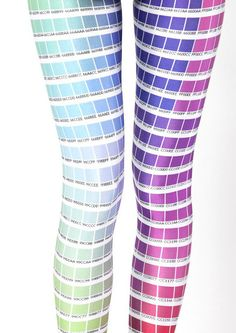 fashion, style, black milk clothing, colors, legs, color charts, tights, pantone, leggings