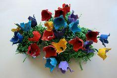 craft, flower garden, eggs, egg cartons, gardens, joy weari, preschool idea, carton flower, flowers garden