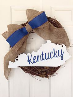State cut outs from Inscribed. So cute in a wreath!