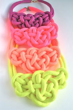 4 COLORS / Neon Color Bowtie Knot Collar by merrymeboutique, $20.00