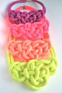 4 COLORS / Neon Color Bowtie Knot Collar by merrymeboutique, $20.00