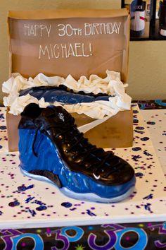 BDay Shoe Cake...Nike Foamposite Penny