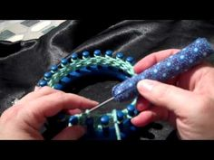 Loom Knitting K2tog YO worked clockwise