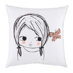 Butterfly Girl Pillow by ashley g