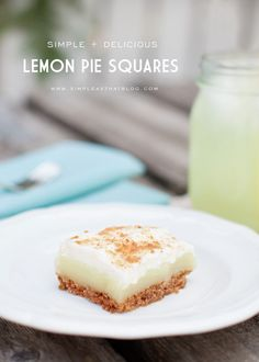 Simple and Delicious Lemon Pie Squares - Perfect Summer Recipe