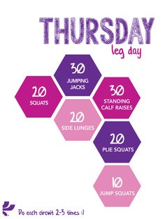 Thursday workout plan