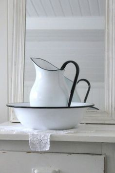 pitcher and basin......