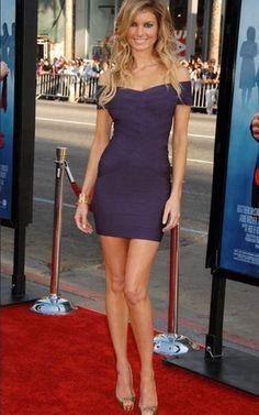 Herve Leger outlet Off-Shoulder Bandage Dress Purple$182.00
