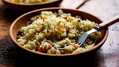 Rice Pilaf With Pistachios, Almonds and Spices
