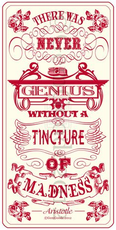❥ genius and madness