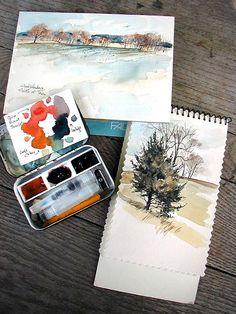3 color palette #art #watercolor #painting