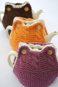Tea cosies - kinda owl like.