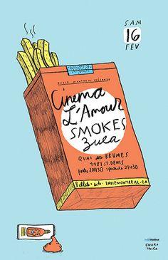 CINEMA LAMOUR/SMOKES/ZULA gigposter