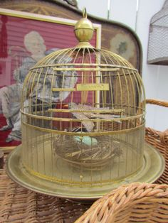 Antique Brass Hendryx Bird Cage