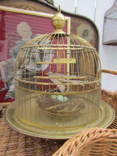 Antique Brass Hendryx Bird Cage