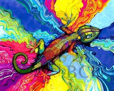Hey, I found this really awesome Etsy listing at https://www.etsy.com/listing/56199271/psycho-gecko-print