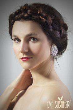 Earrings made by Eva Sušanská