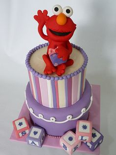 Elmo kids birthday cake