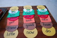 great idea for sight words