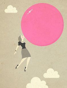 Bubblegum Print from Zara Illustrates