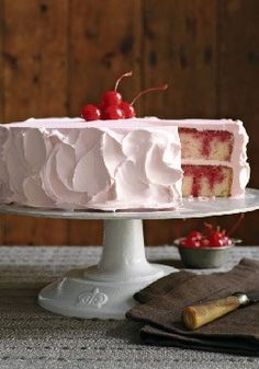 "JELL-O Poke Cake – This cake has seen its share of birthdays, holidays, and company parties, and it's always greeted with a ""wow!"" Surprise 'em at your next gathering with this classic."