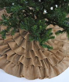 Ruffled Burlap Tree Skirt 60 Inch. $150.00, via Etsy. @Jennifer Milsaps L Milsaps L Merryweather (I need to sew and make my OWN money... DANG!!)