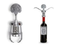 Awesome Skull Corkscrew designed by Ariel Rojo and Stephanie Suarez for the Kikkerland Mexico Design Challenge.