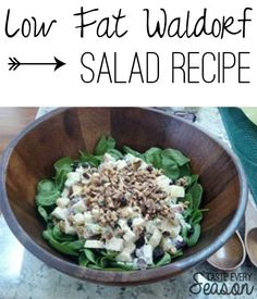 Easy Low Fat Waldorf Salad Recipe