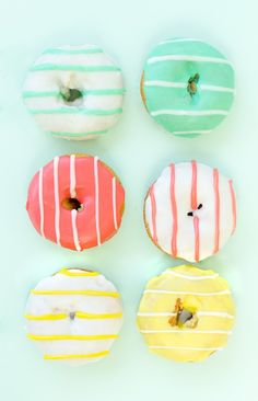 Striped Donuts. So pretty!
