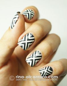 Crossed Out Nail Art Design by Simply Rins