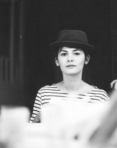 coco chanel, audrey tautou, audrey hepburn, fashion hats, actress, black, stripe, french style, natural beauty