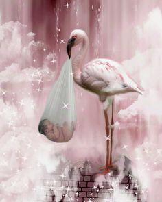 Flamingo Newborn Baby Nursery Series Pink Art by muertosdesigns, $12.00 #Etsy #etsypin #gift