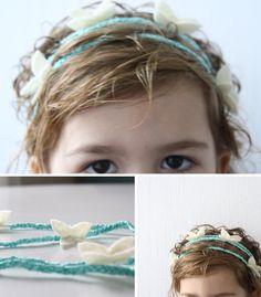 butterfly hippie child headband tutorial...