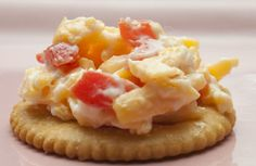 crowd pleaser....pimento spread and ritz