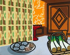 'Still life: Autumn fashion', Patrick Caulfield, 1978. We think this bold and colourful work by Patrick Caulfield can be termed 'pop art'. http://www.liverpoolmuseums.org.uk/walker/collections/20c/caulfield.aspx