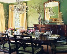 chinoiserie, dream dining rooms, dine room, color, dream hous