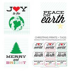 Fun & Festive Christmas Prints from www.thirtyhandmadedays.com