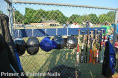 Baseball Dugout Organizer... for the kiddos!