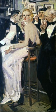 'Center of Attention' - 1934 - by Rico Tomaso (American, 1898-1985) - Vanderbilt Hall Collection -  @~ Mlle