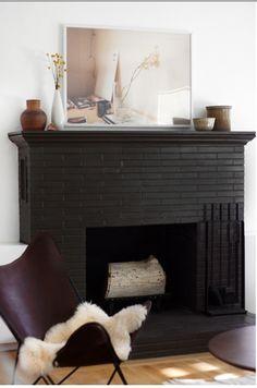 fireplace decor ideas on painted brick